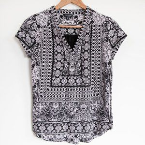Lucky Brand Short Sleeve Geometric Print Shirt